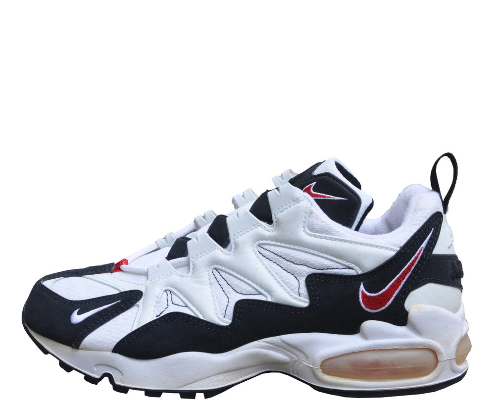 nike air max tailwind 1996 white black and red