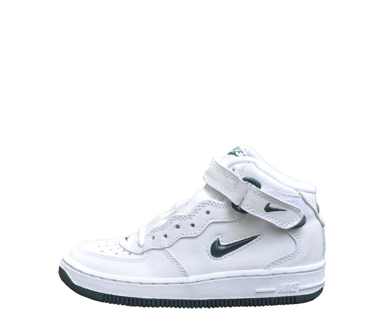 classic fit 0705d 5f1fb Kids Nike Air Force 1 Mid Jewel White   Dark Forest DS