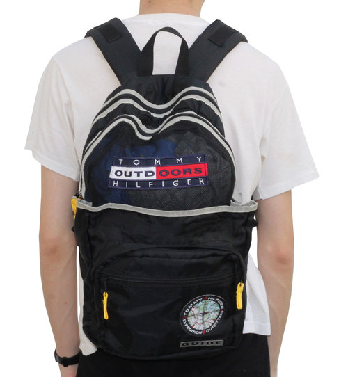 d440d8cf1bfb85 Vintage Tommy Hilfiger Expedition Outdoors Back Pack — Roots