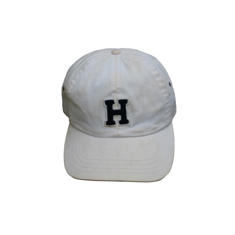 34dce6f5e Vintage Tommy Hilfiger Beige / Navy H Logo Strap Back — Roots