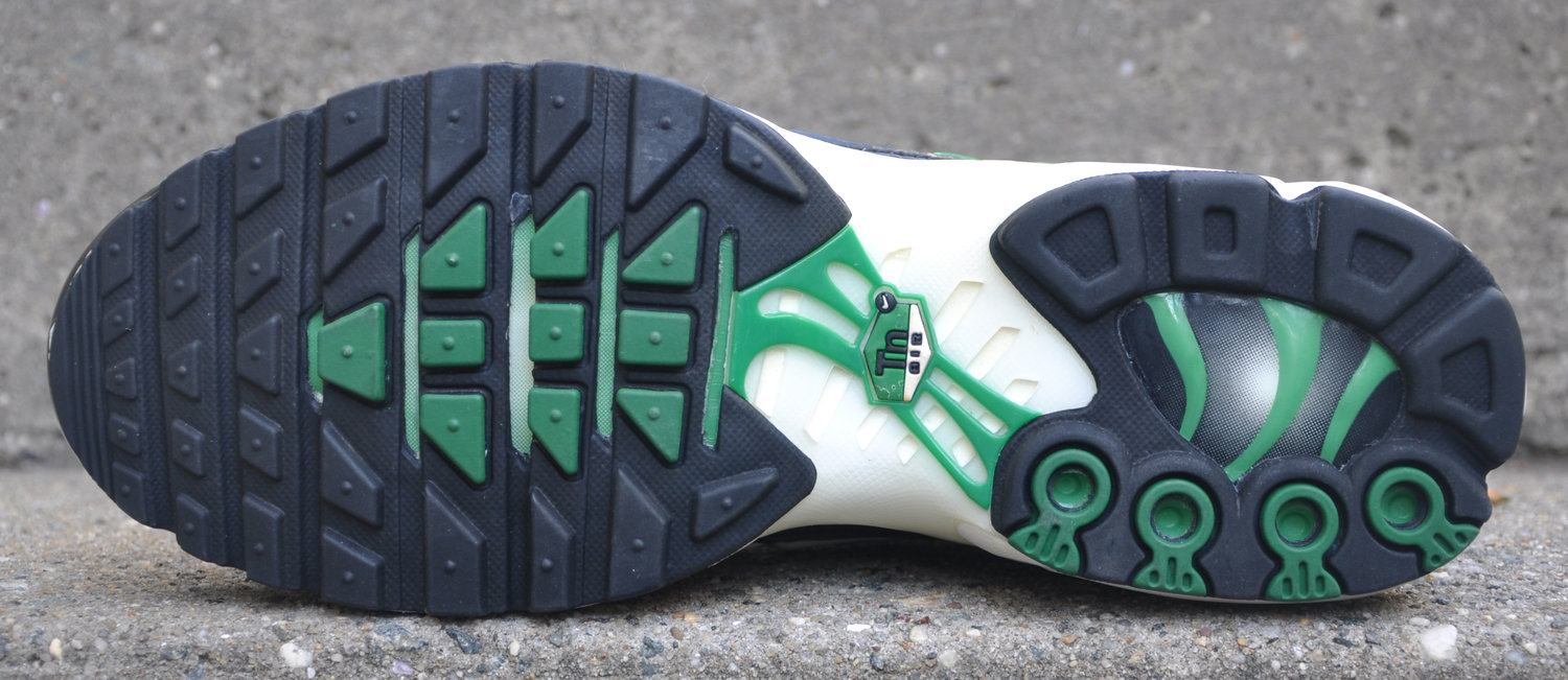 bottom of Nike AM Plus Green .jpg. nike air max plus green white black . ... 101c900b8