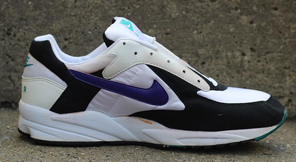 promo code c9a56 69785 Nike Air Icarus white, purple, and emerald