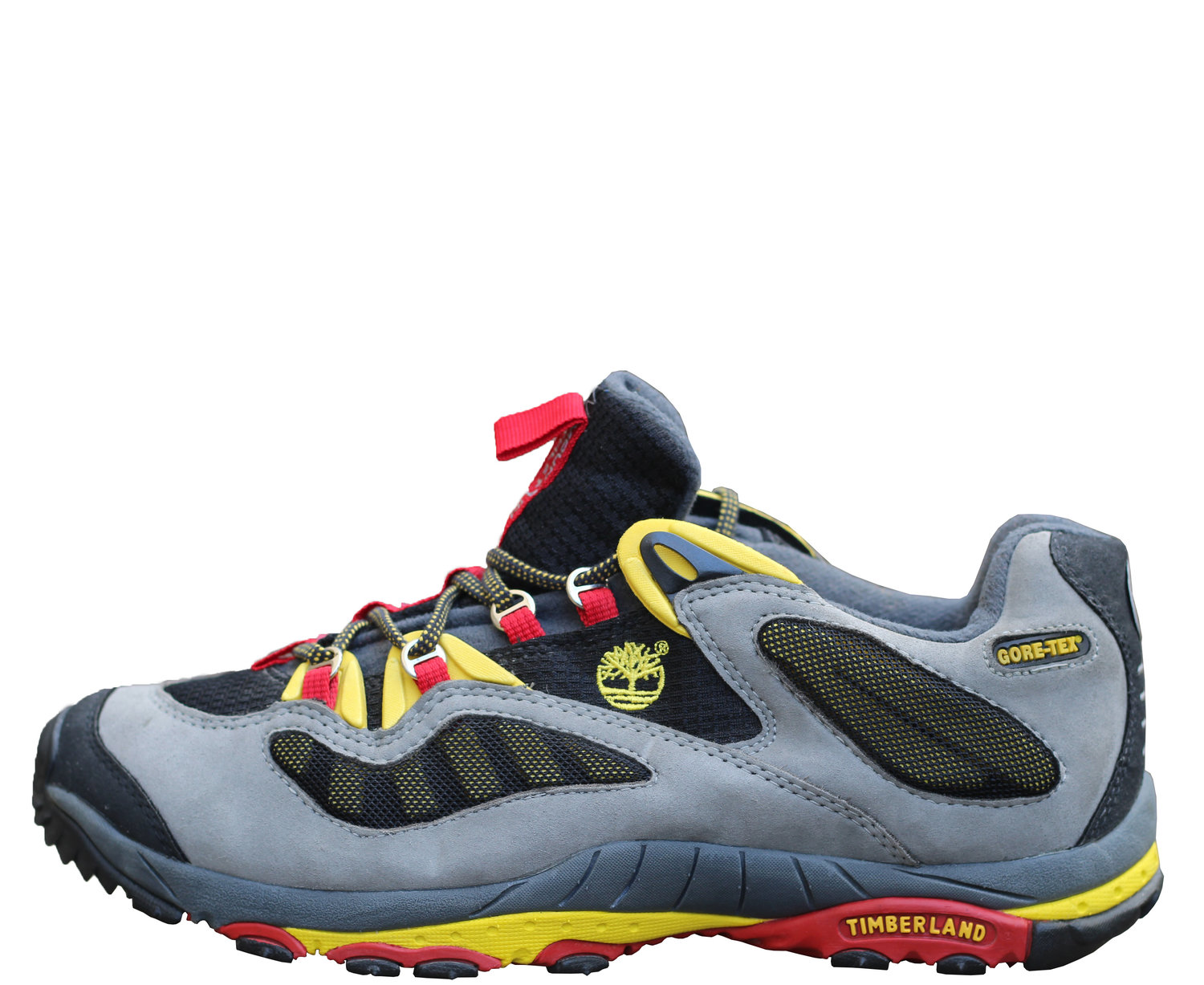fc4ed5100a6f Timberland Mountain Athletics Low Grey   Red   Yellow (Size 9.5) — Roots