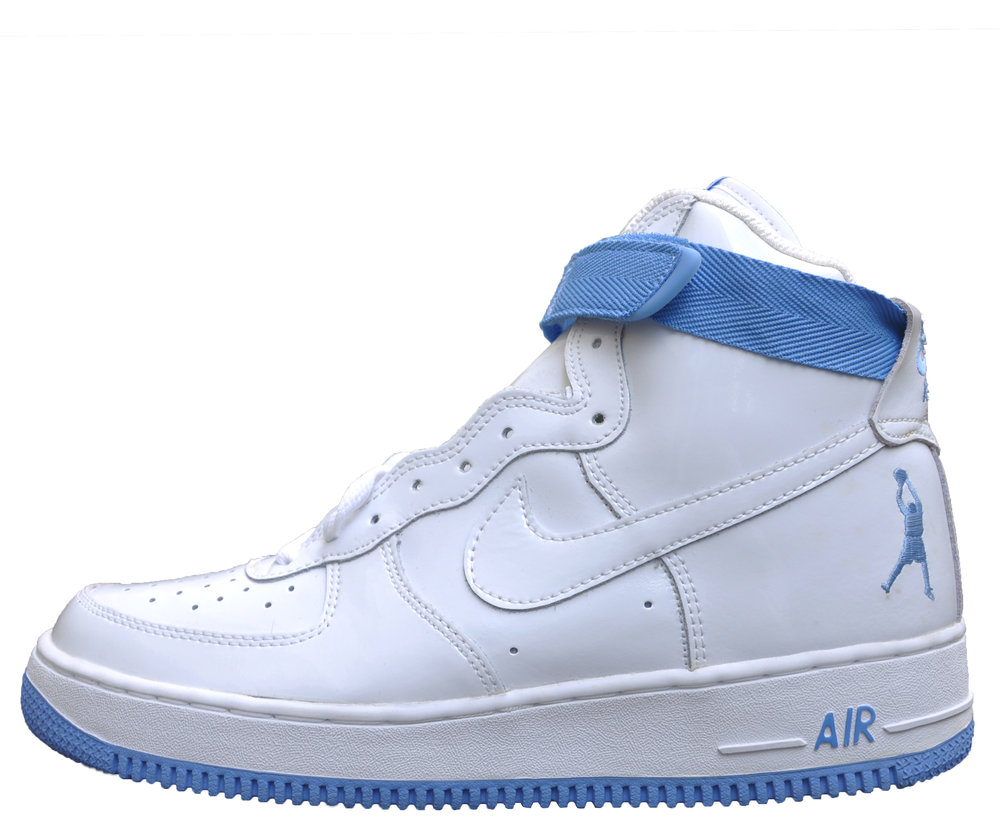 purchase cheap 80d91 861dd Nike Air Force 1 High Sheed White and uni blue