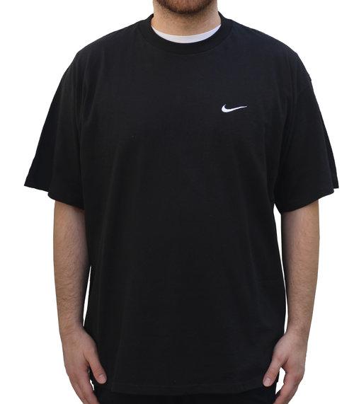 e5308047 Vintage Nike Heather Black / White Small Swoosh Logo T Shirt (Size ...
