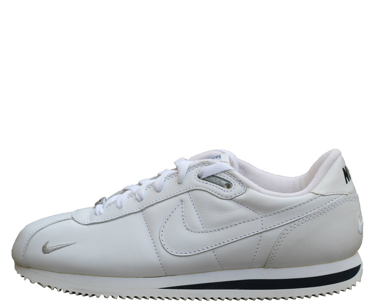 07dec00d4019 Nike Cortez Leather White Black Silver (Size 9) DS