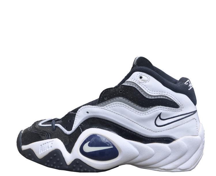 e18d35074bd3 Nike Air Flight Turbulence White   Black   Patent Leather (Size 6.5 ...