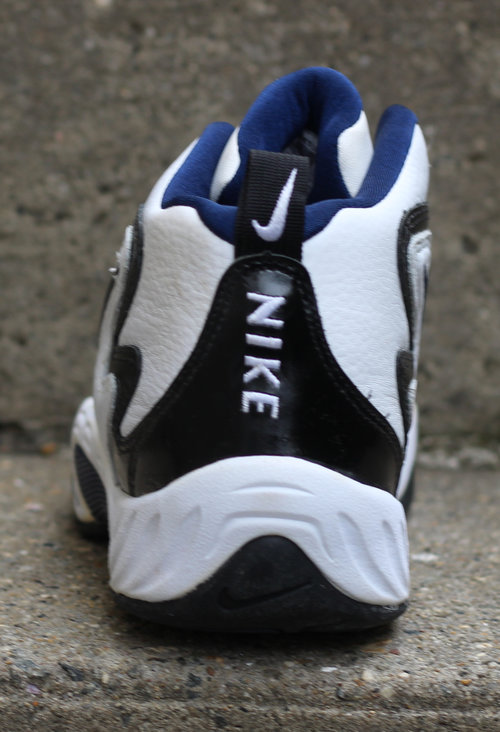 promo code 74583 190a7 ... Nike Air Winged Flight white and navy patent leather.