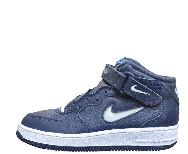 cfa358a51 Kid`s Nike Air Force 1 Mid SC Jewel Obsidian Carolina (Size 4.5) Nike Air  Force 1 Older Kids Shoe ...