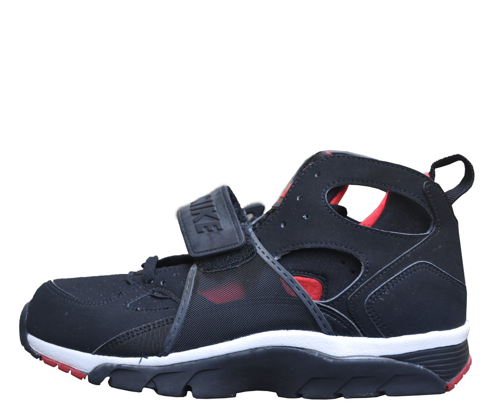 official photos eed5e 43c64 discount code for nike air trainer huarache black red size 8.5 ds ac64b  0151d