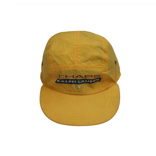 Vintage Chaps Ralph Lauren Yellow 5 Panel Hat — Roots 47a70b29849