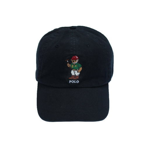 19a38b452e164 Polo Ralph Lauren 14 Bear Black Strap Back Roots