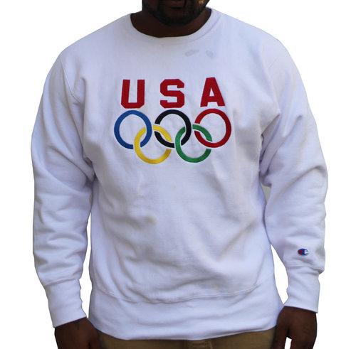 Vintage Champion Reverse Weave USA Olympics Sweatshirt (Size L) — Roots 22094ce4f8