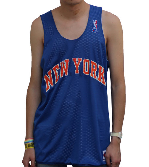 8398ae2a4c9e Vintage Champion New York Knicks Reversible Mesh Jersey (Size L) — Roots
