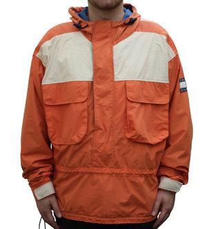 ff9e68c3b Vintage 90s Tommy Hilfiger Orange Pullover jacket.