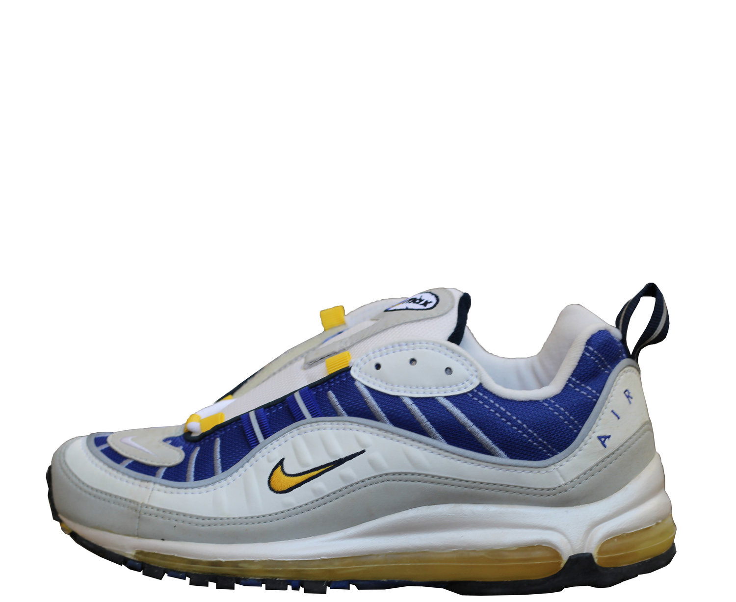 Women`s Nike Air Max 98 Maize Ultramarine (Size 9) DS — Roots
