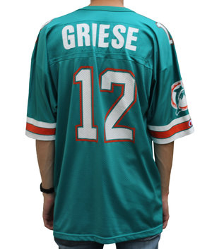 85a6e858ad7 Vintage 90s Champion Miami Dolphins Bob Griese jersey