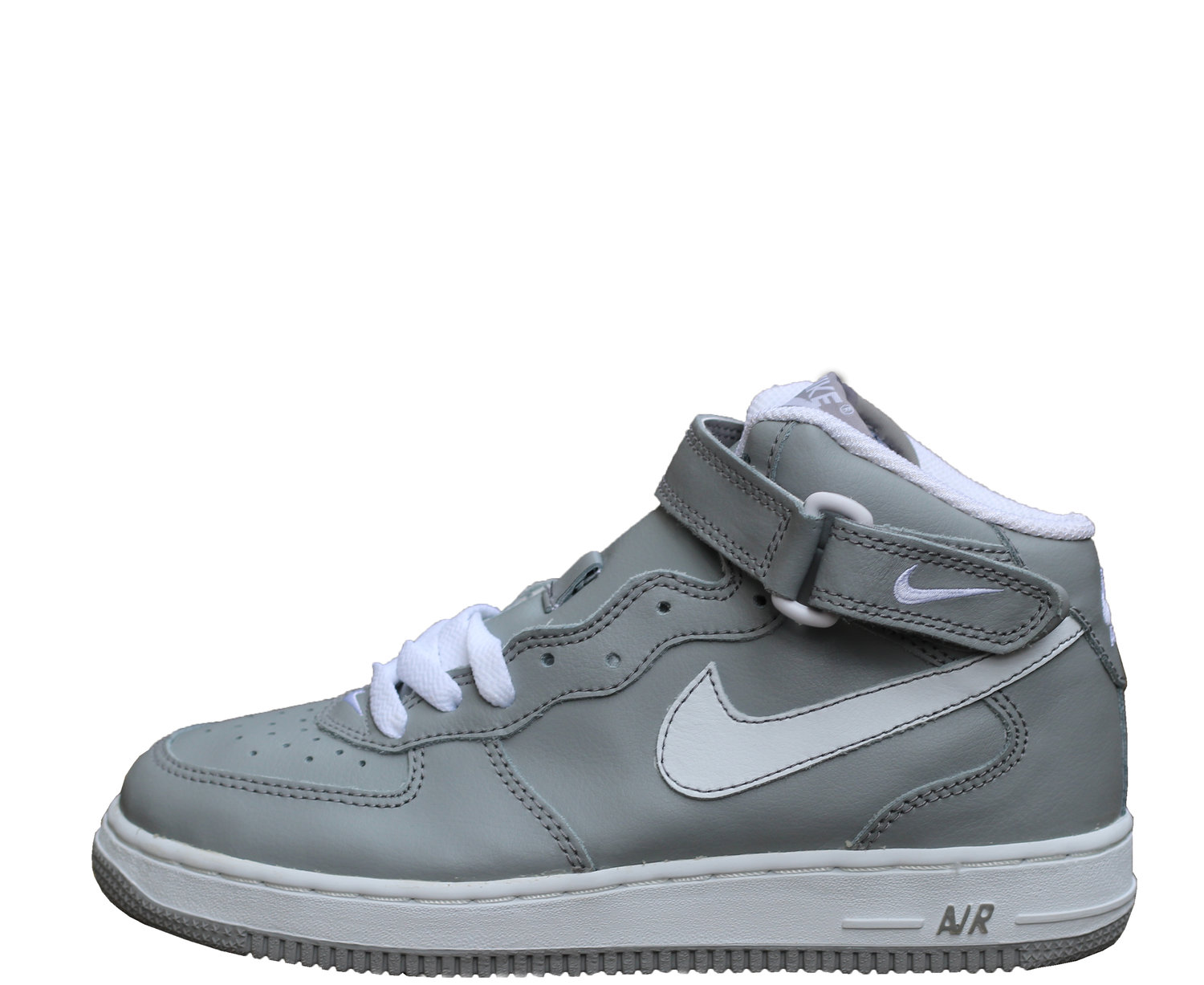 bcc3c1e9e9b1 Kids Nike Air Force 1 Mid Medium Grey   White (Size 6) DS — Roots