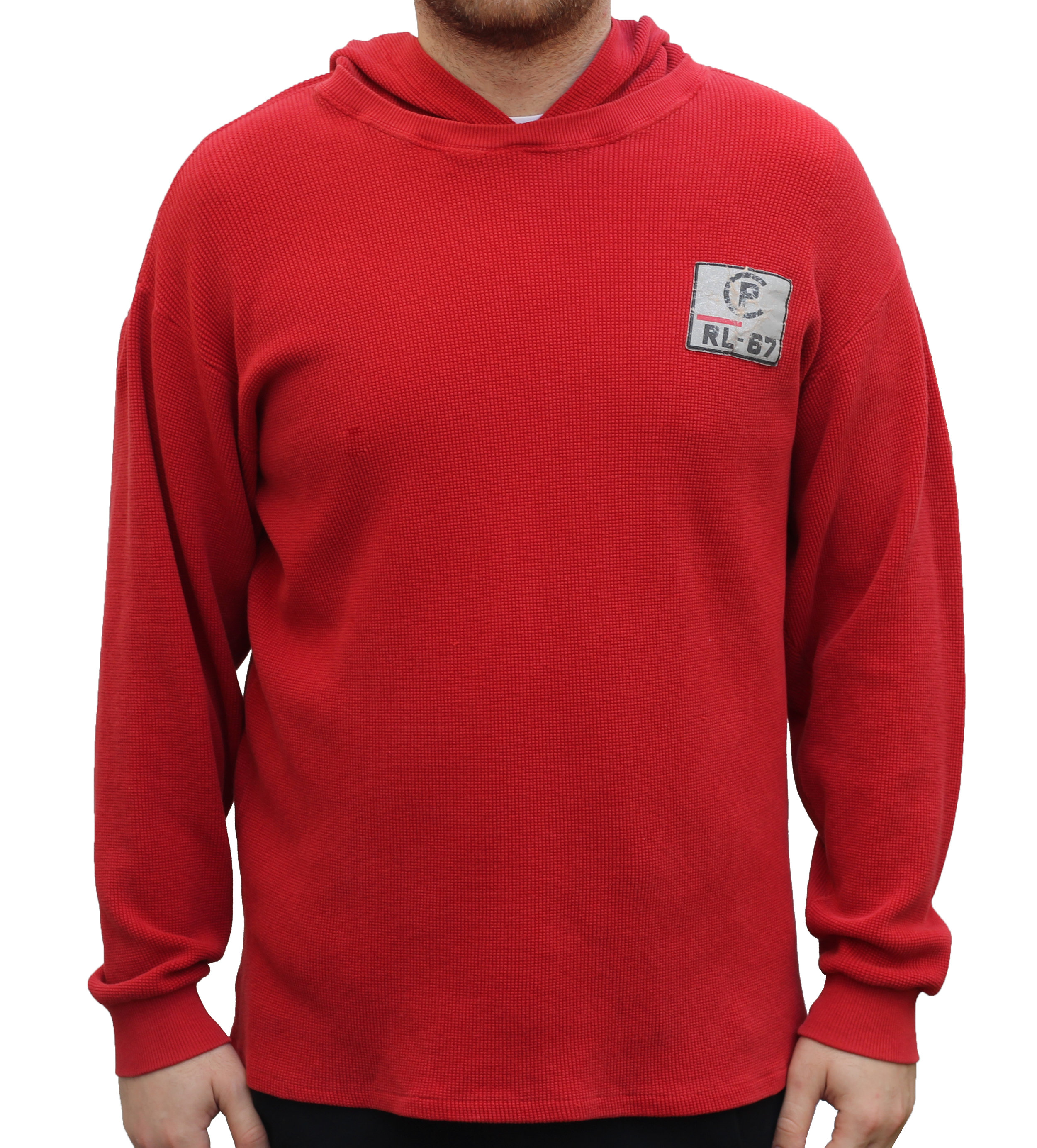 Vintage Polo Ralph Lauren CP RL-67 Red Thermal Hoodie (Size XL)