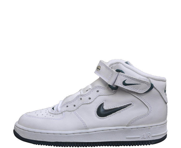 detailed look 9c875 047ea nike air force 1 ones 1997 mid sc white deep forest