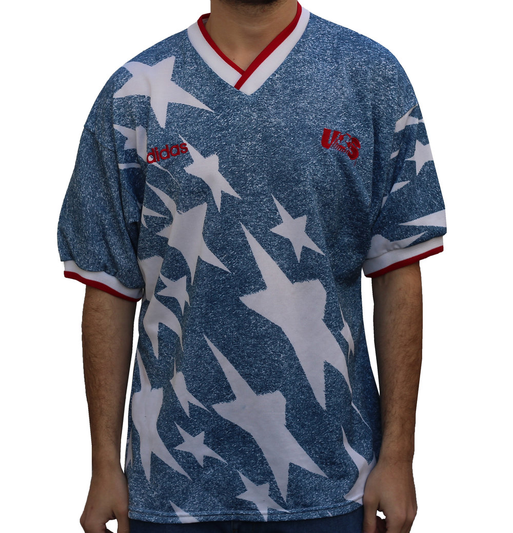 59067dd1a ... low price vintage 90s adidas usa soccer jersey. 3632b 26e9d