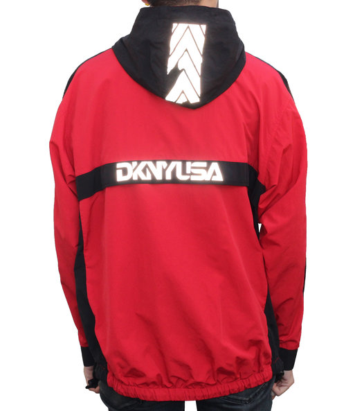Vintage DKNY USA Red / Black / 3M Pullover Windbreaker (Size L ...