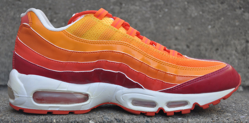 buy online 555cc 81bf8 Nike Air Max 95 Red   Orange Blaze