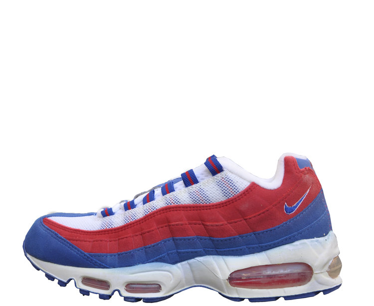 women s nike air max 95 white sport royal v red size 8 ds