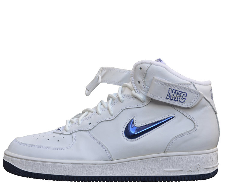 big sale 377a4 0c459 Nike Air Force 1 SJ Mid SC NYC Jewel White   Midnight Navy (Size 11) DS