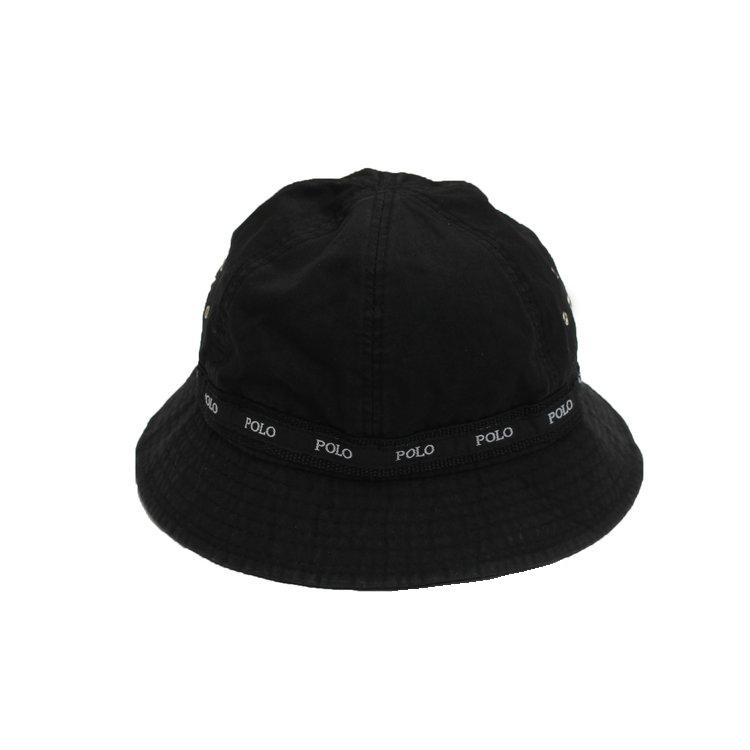 Vintage Polo Ralph Lauren Black   White Bucket Hat — Roots db9162e515b