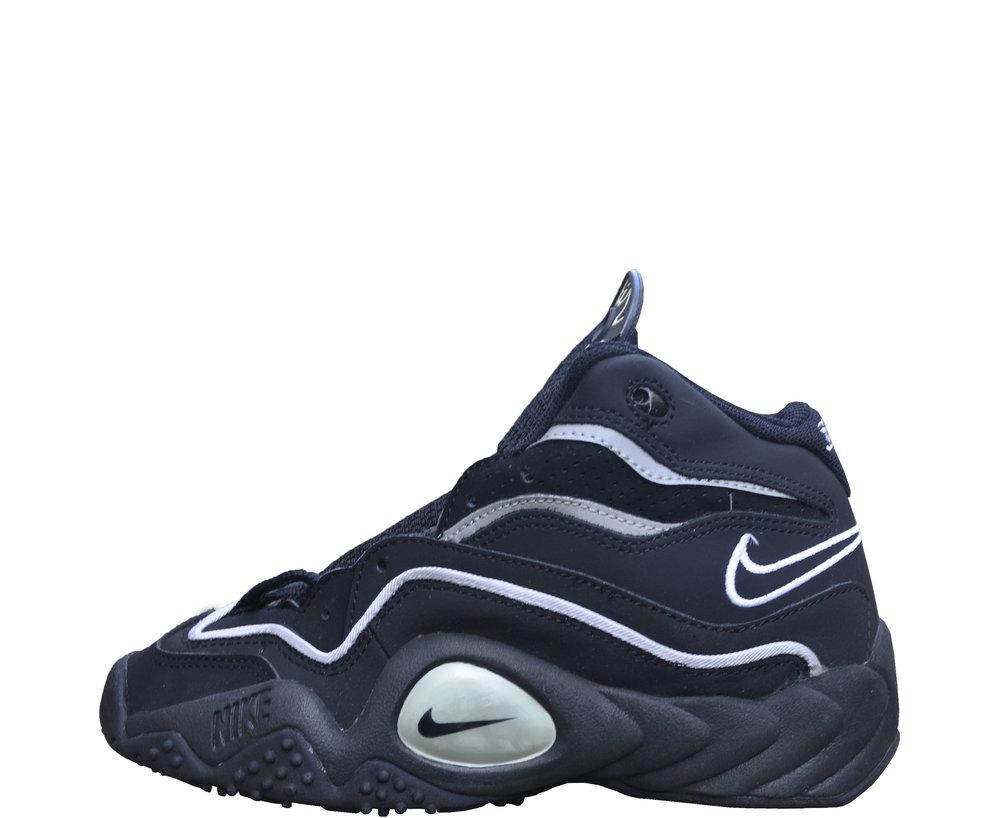 b77d2f83b9610 Kids Nike Air Flight Turbulence Black   Silver (Size 5.5) DS — Roots
