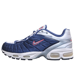 newest 9c6c3 8b75b Nike Air Max Tailwind navy, silver, and max orange.