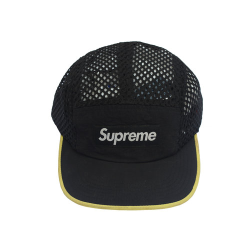 ba6f196c2e5 Supreme Black   Yellow Mesh 5 Panel Hat — Roots
