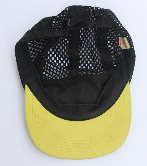 fdb21e18b1500 Supreme Black   Yellow Mesh 5 Panel Hat — Roots