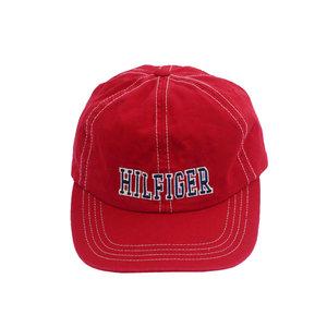74d5a3d3551 Vintage 90s Tommy Hilfiger red and navy strap back