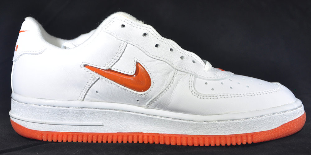 best cheap d9183 b87cd Kids NIke Air Force 1 Low Jewel Safety Orange