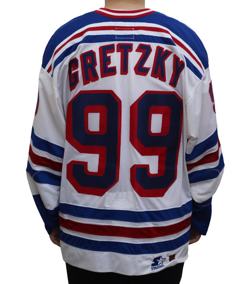 Starter New York Rangers Wayne Gretzky Authentic Home Jersey (Size ... b00fe2b2291