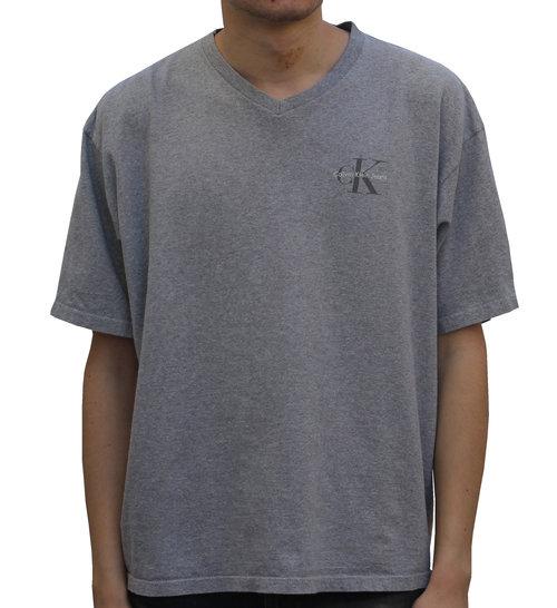 36545a251bf4 Vintage Calvin Klein CK Heather Grey V Neck T Shirt (Size XL) — Roots