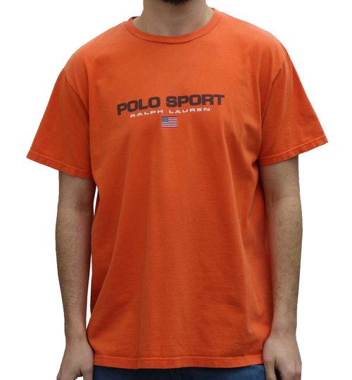 ed0dea1e7 Beautiful Vintage Polo Sport Ralph Lauren Spell Out Orange T-Shirt (Size L  LU18