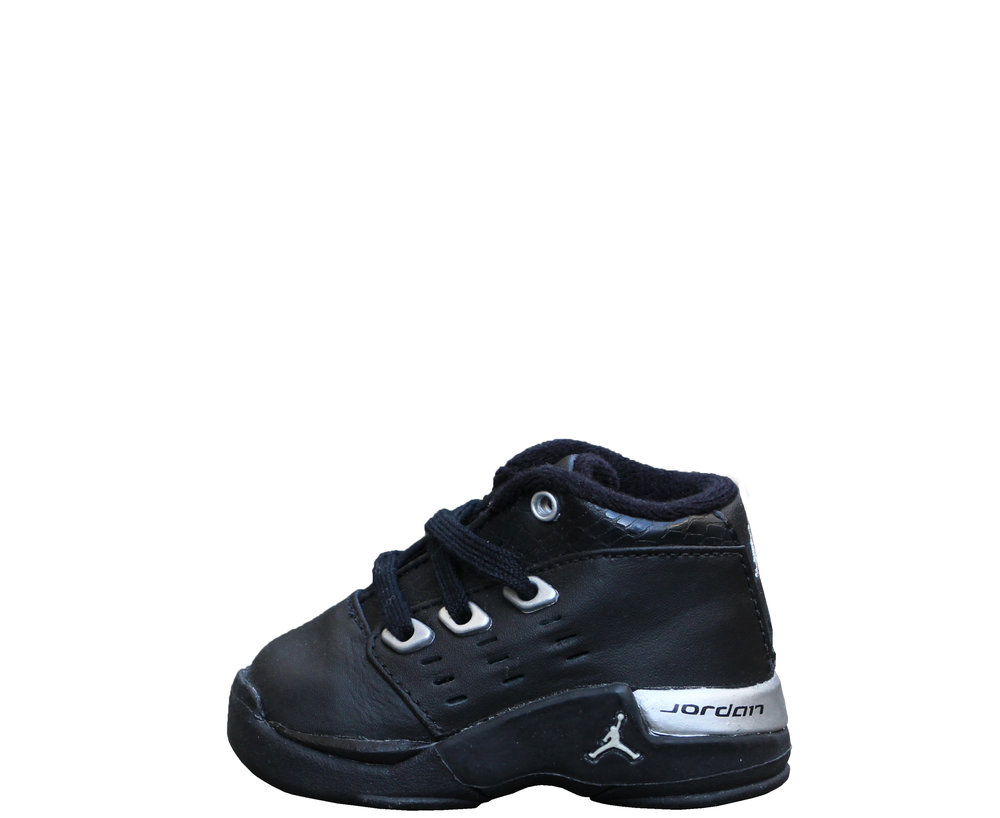 5a5170747c98 ... shop baby air jordan 17 black silver size 2 ds fb3e6 6e0e3