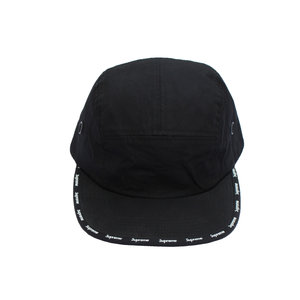 Supreme black and white logo 5 panel hat 86b4ac241fb7