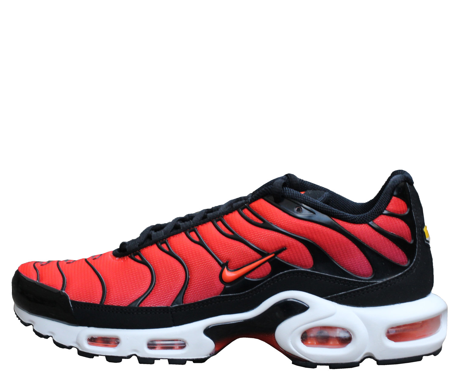 Nike Air Max Plus Black Team Orange Team Red Size 8 5 Ds Roots