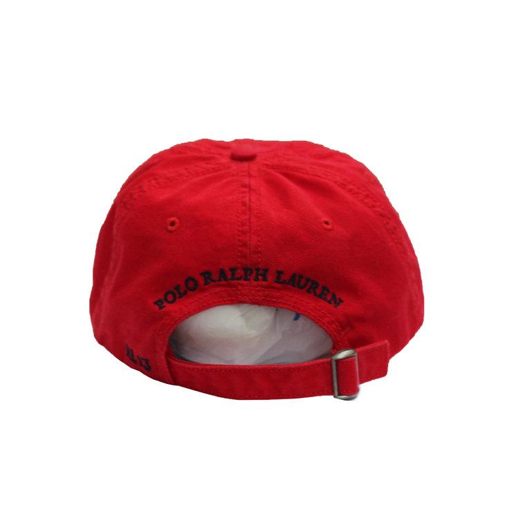 Polo Ralph Lauren Bear `13 Red Strap Back Hat — Roots e974596d7454