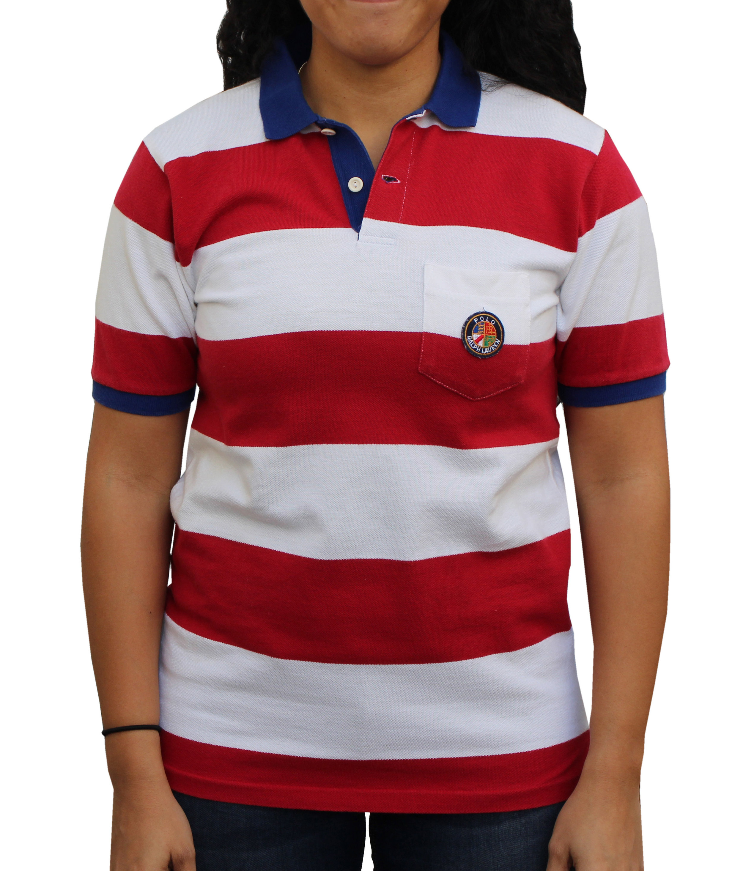 Vintage Polo Ralph Lauren Cookie Striped Rugby (Size Youth L)