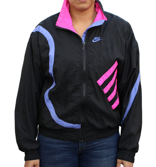 74b4f649d869 Vintage Nike Challenge Court Colorful Windbreaker — Roots