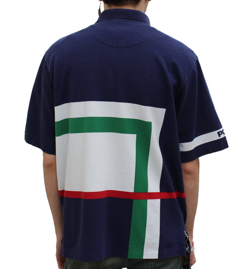 68e2d3a4409 Vintage Polo Ralph Lauren Navy / Green / Red Rugby (Size L) — Roots