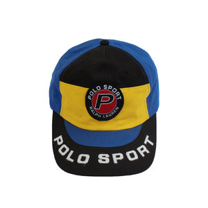 f0419a6d428 Vintage 90s Polo Sport Ralph Lauren spell out colorful hat