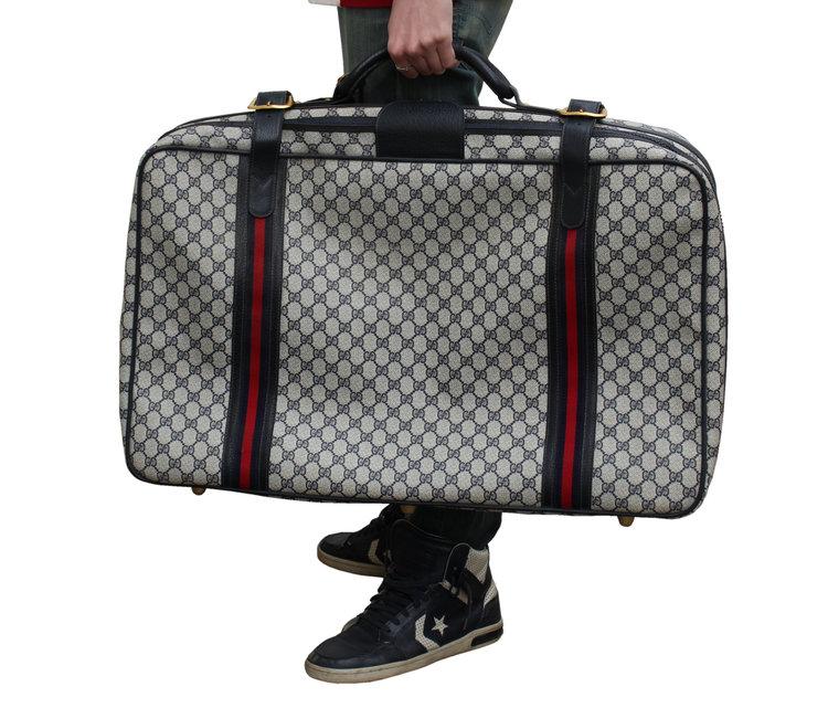 4014133f720 Vintage Gucci Canvas Monogram Luggage — Roots
