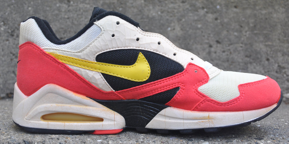 6c94ad65eff2 Nike Air Max Tailwind 92 White   Yellow Crimson (Size 9.5) DS — Roots
