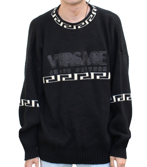 a0d9e75f Vintage Versace Jeans Couture Spell Out Sweater (Size XXL) — Roots